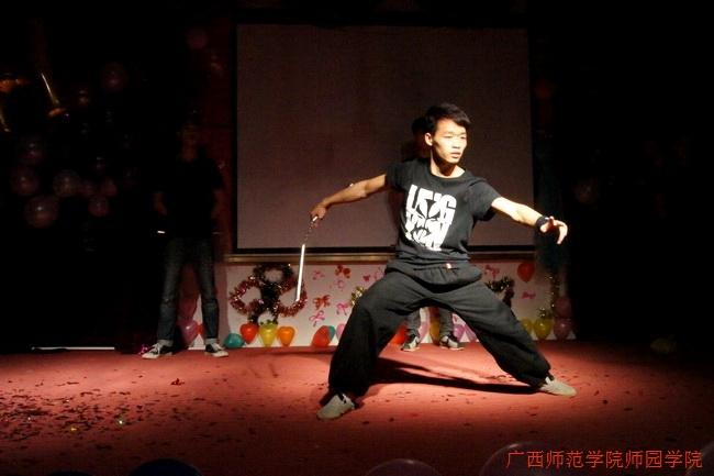 骊歌飞扬 放飞梦想——我院华英艺术团迎新晚会武术协会的中华武术表演