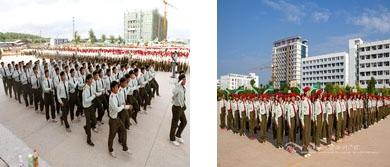 2011年建设中的校园,新生军训-2014级新生军训