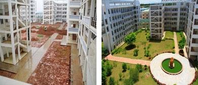 2010年以前的师园教学楼-如今的教学楼