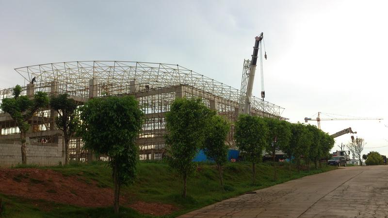2011年建设中的风雨球馆