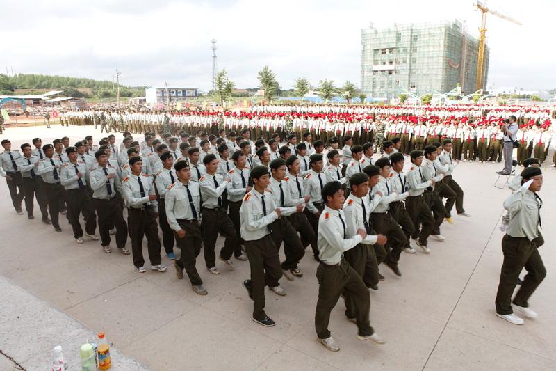 2011年建设中的校园,新生军训